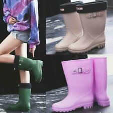 Womens Ladies Waterproof Rain Wellies Wellington Boots Fur Lined UK Size
