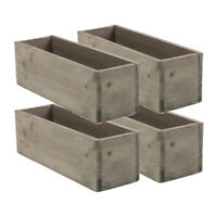 """Accent Decor 6/"""" X 6/"""" Woodland Planter Box with Plastic Liner Pack of 2"""