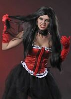 Womens Gothic Long Straight Black Wig
