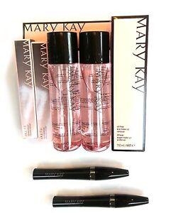 Mary Kay Oil-Free Eye Makeup Remover (2PCS)+Ultimate Mascara Black (2PCS) FRESH!