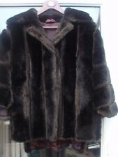 LADIES VINTAGE TISSAVEL FAUX FUR MINK JACKET CAPE/JACKET SIZE 14-16 BOHO