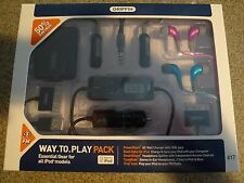New GRIFFIN IPod Bundle Kit -  iTrip Auto PowerBlock SmartShare TuneBuds Cables
