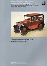 BMW Katalog 2004 Sammlerobjekte Accessoires Modellauto Motorräder Uhren brochure