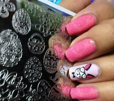 NEW Easter Celebration Theme Pattern DIY Manicure Nail Art Plate L033