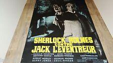 SHERLOCK HOLMES CONTRE JACK  L'EVENTREUR !  affiche cinema  epouvante 1965