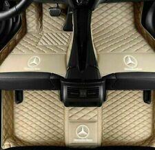 For Mercedes-Benz 2004-2020  Waterproof Front & Rear Car Floor Mats Beige