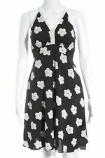 TRAFFIC PEOPLE Mini-jurk zwart-wit bloemenprint country stijl Dames Maat EU 36