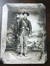 civil war Military Soldier With Full Uniform & Rifle tintype C078RP