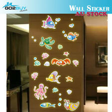 Glow In The Dark Sea Animals Removable Decal Wall Sticker Living Room Bedroom