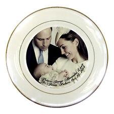Prince George Portrait / Royal Baptism Porcelain Plate / Will & Kate rare!