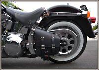 Sacoche latérale Simple Modèle NOIR { Harley softail Fatboy Breakout VN fat-boy