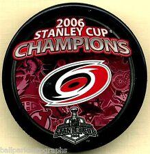 2006 CAROLINA HURRICANES NHL STANLEY CUP CHAMPIONS HOCKEY PUCK Free Shipping !!