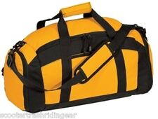 Personalized Duffle Bag Gym Sport Duffel GOLD yellow with black trim NEW
