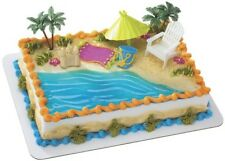 LUAU HAWAIIN BEACH Cake Decoration Topper Party Sand NW