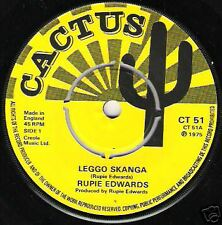 "RUPIE EDWARDS - Leggo Skanka / 7""  (Cactus Records)"