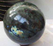 18.93lb NATURAL Labradorite quartz crystal sphere ball healing *