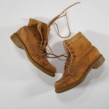 Wolverine Nubuck Men's Sport Hunting Work Boots US 11E suede 3334 VTG Camel USA