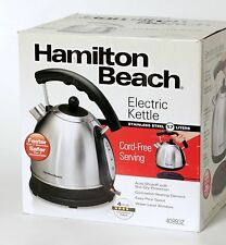 Hamilton Beach Silver Electric Kettle Stainless Steel 40893 10 Cup NEW