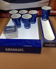 Absolute Vodka Facet LED Shelf platform & LED bar drinks tray + 6 cups and mats