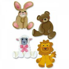 Sizzix Red Sizzlit Die Set Stuffed Animals Cute Baby Lot 9