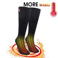 Electric Black Heated Socks Feet Warm Heater Skiing Fishing Shoe Boot Warm Socks