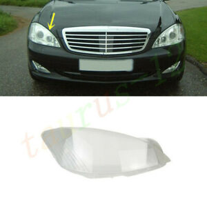 For Mercedes W221 S-Class 2007-2009 Right Side Headlight Clear Lens Cover +Glue