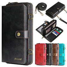 For Samsung Galaxy Phones Luxury Flip Leather Crossbody Strap Wallet Case Cover