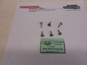 1955 1956 1957 Chevy #20-004D DOOR PANEL Screw Set  6 pc.  - New