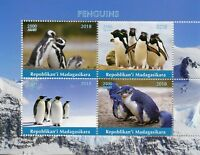 Madagascar 2018 MNH Penguins Emperor Penguin 4v M/S Birds Bird Stamps