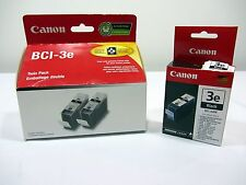 Canon Ink BCI-3e Twin Pack 2 Black Ink Tanks & 1 Extra Black New Old Stock