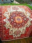 AMAZING ANTIQUE  1900 ESTATE  VERY GOOD PILE  RUG EXCEPTIONAL BEAUTY