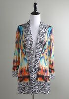 CHICO'S NWT $99 Bright Tribal Iris Cardigan Sweater Top Size 0 Small 4 / 6
