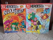 Lot of 2 DC Heroes Role Playing Game Books - DC Comics - 1985