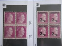 Nazi Germany Third Reich Hitler Block of 4 MNH Stamps 40PFG/2KgFeldpost -S20-07