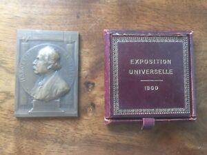 2 Medailles Anciennes Marcelin Berthelot Exposition Universelle 1900 Chaplain