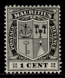 MAURITIUS EDVII SG181, 1c black, LH MINT.