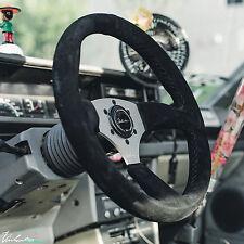 VIILANTE LEGGERA 350mm STEERING WHEEL SUEDE **BLACK STITCH** FITS BMW E46 E46M3