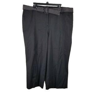 Alfani Women's Culotte Pants Plus Size 20W Black Belted
