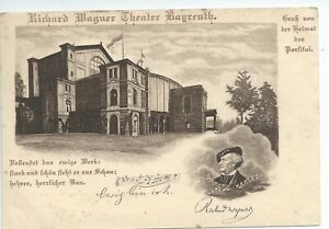 Printed postcard  Richard Wagner Theater Bayreuth  not Posted good condition