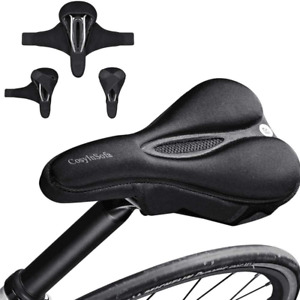 Bike Seat Cover padded, Extra Soft Comfort Bike Saddle Cover Cushion,Non-Slip or