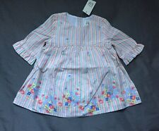 Baby Girl 3-6 Month Baby Gap Multicolor Striped Floral Flared Sleeve Dress