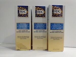 (3) RoC Retinol Correxion Sensitive Eye Cream Anti-Aging 0.5 oz