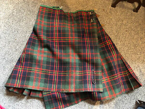 Vintage Kilt See Pictures For Measurements Scottish Scotland Dress AD