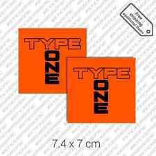 2x Type One bamper sticker decal die cut set Spoon Sports Honda Civic JDM