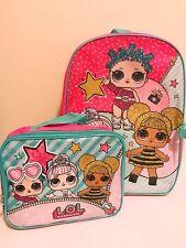 "16"" LOL Surprise Dolls Back to School Book Bag Backpack Detachable Lunch Box Set"