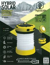 SOLAR Rechargeable Torch LED EXPANDABLE LANTERN FLASHLIGHT|Fishing Boat Camping|