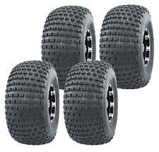 Set 4 WANDA Sport ATV Tires 22x11-8 22x11x8 4PR Dimple Knobby 10026