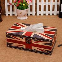 Reto Rectangular Tissue Box Waterproof Wooden Paper Holders Box Bedroom 5 Types