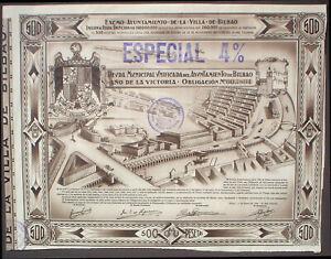 Ayuntamiento de la Villa de Bilbao 500 Ptas, 1939