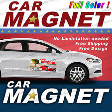 QTY.2 12x24 Custom Car Magnets Magnetic Auto Truck Signs -mgn